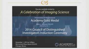 Academy of Radiology Award Ceremony @ RSNA MD